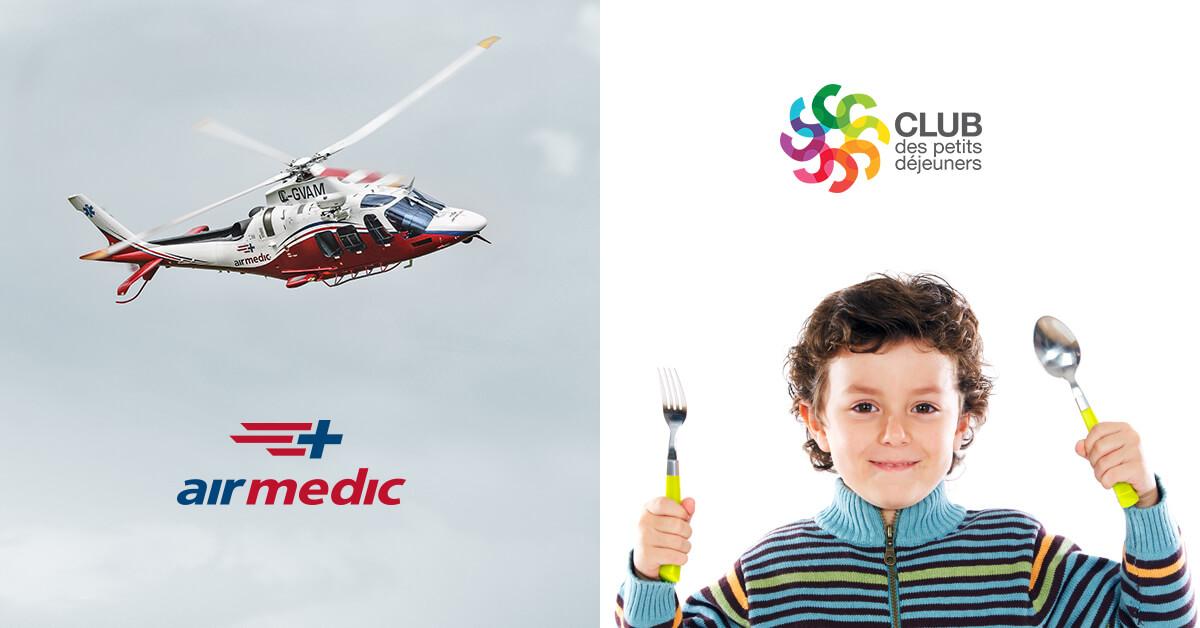 GENI signe Airmedic et le Club des petits déjeuners
